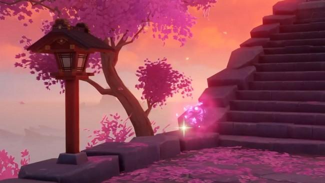 Emplacements Fleur de cerisier Genshin impact