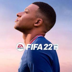 La jaquette FIFA 22 avec Kylian Mbappé