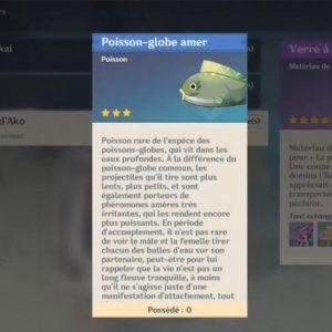 Poisson-globe amer genshin impact